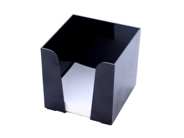Бокс для бумаг, 9*9*9 см, пластиковый, черный, Workmate