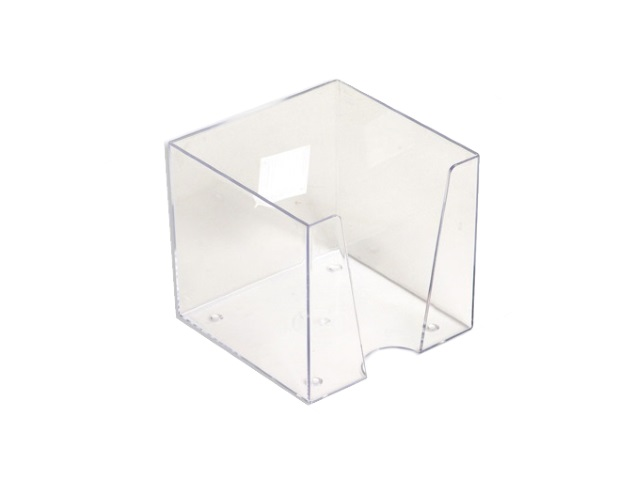 Бокс для бумаг, 9*9*9 см, пластиковый, прозрачный, Workmate