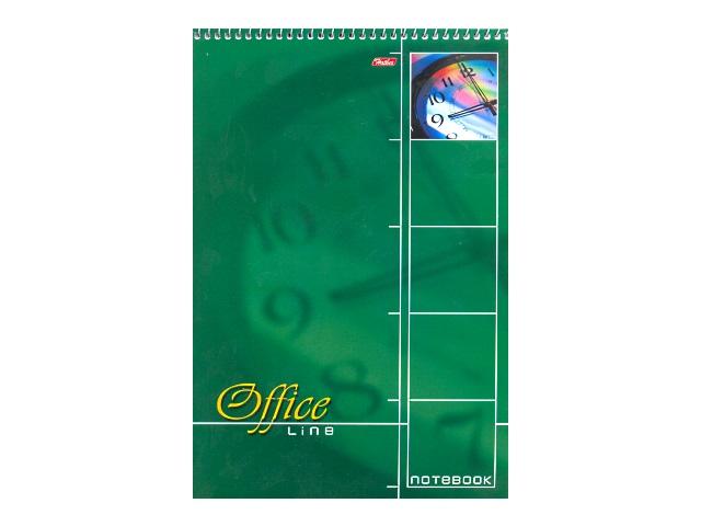 Книга канцелярская А4, 60 листов, спираль сверху, мягкая обложка, Office Line, Hatber