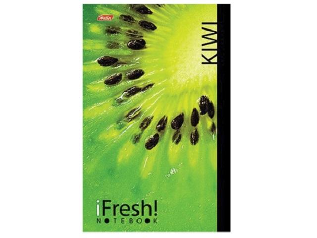 Блокнот А5, скоба сверху, мягкая обложка, 96 листов, клетка, Kiwi, iFresh, Hatber