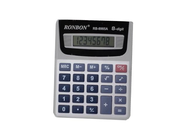 Калькулятор, 8-разрядный, цвета ассорти, 12.7*9.8см., Ronbon