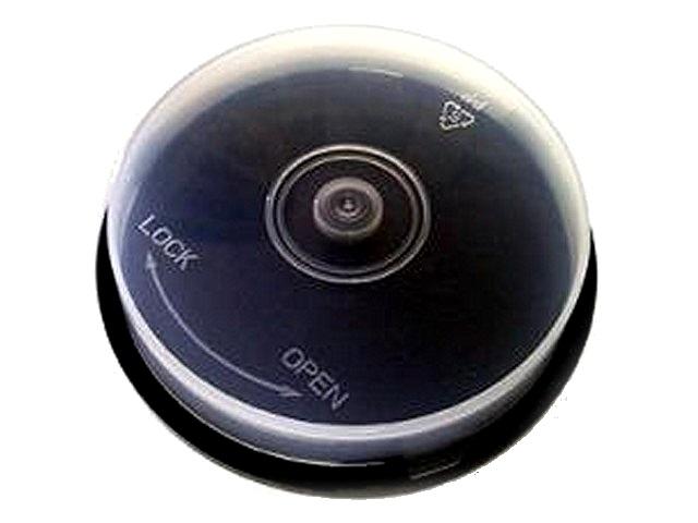 Бокс для дисков, на 10 дисков, пластиковый, круглый