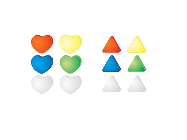 Магнит для досок D=30мм., 6шт., треугольный, Silwerhof