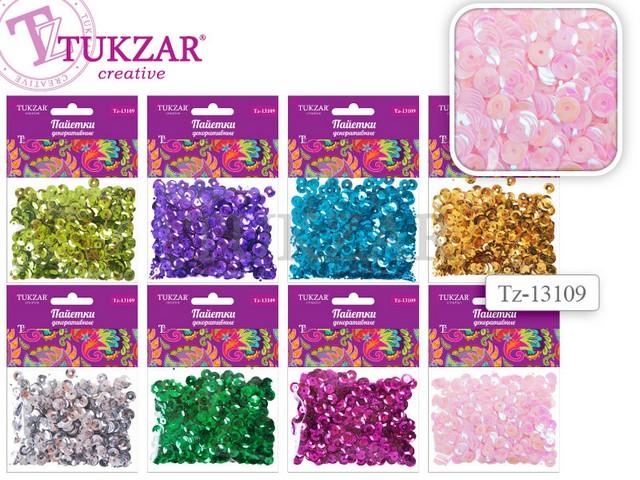 Набор для творчества Пайетки, 8 цветов в ассортименте, 11*8см, в пакете, Tukzar 13109