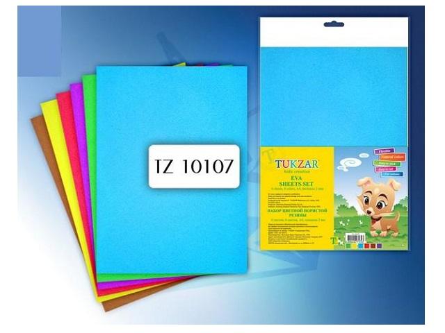 Набор для творчества, Резина пористая, А4, 6л, 6цв, в пакете, Tukzar