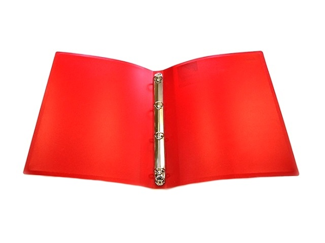 Папка на 4 кольца, А4, 16 мм, красная, Proff Next