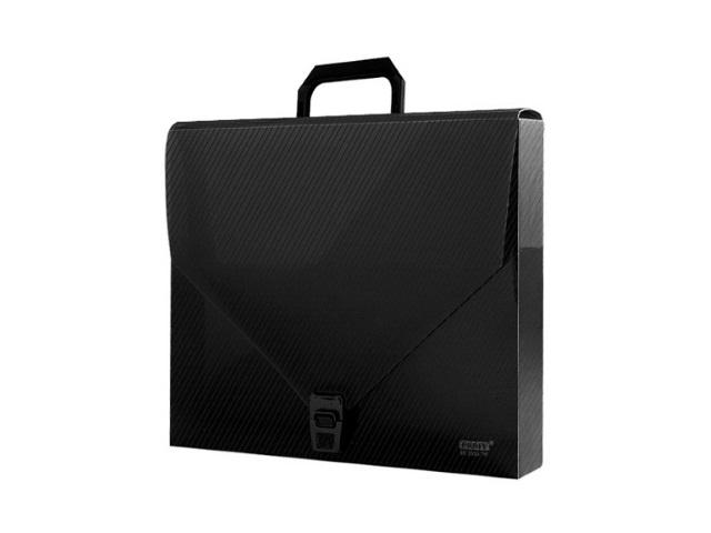 Портфель А4 1 отделение пластиковый на замке черный прозрачный, Proff Next SB2033TW-14