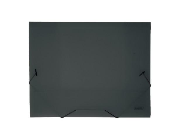 Папка на резинке, А4, прозрачная, черная, 40 мм, Proff Next