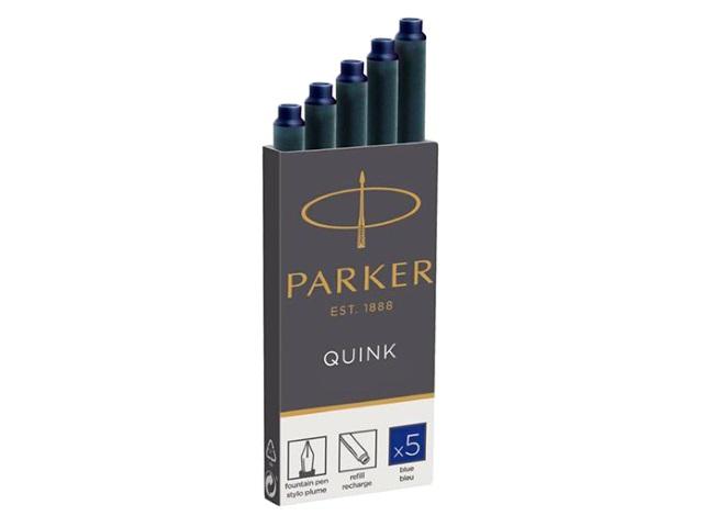 Набор капсул 5 шт. синие, Quink, Parker 1950384