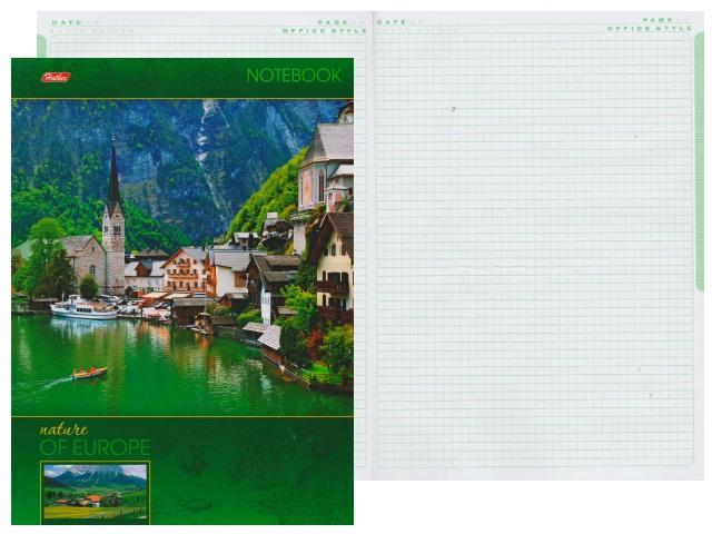 Книга канцелярская А4, 120 листов, твердая обложка, Яркие краски Европы, Hatber