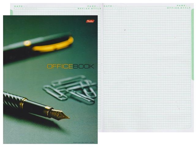 Книга канцелярская А4, 120 листов, твердая обложка, Office Book, Hatber