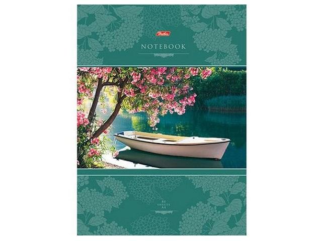 Книга канцелярская А4 80 листов, твердая обложка, Красота тишины, Hatber