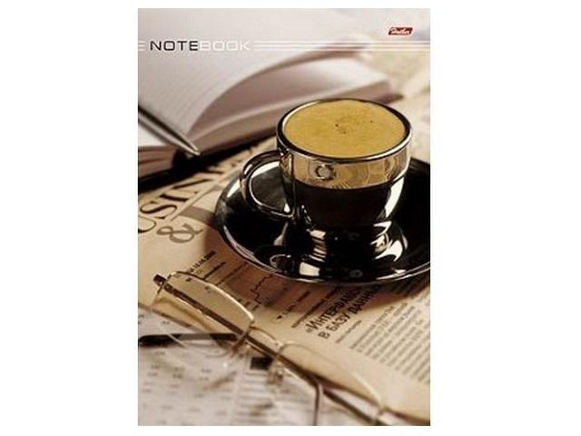 Книга канцелярская А4, 80 листов, твердая обложка, Кофе-брейк, Hatber