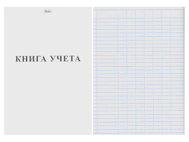 Книга учета А4, 48 листов, мягкая обложка, пустографка, линия, Белая, Hatber