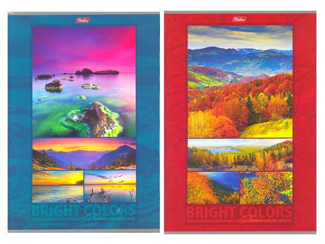 Книга канцелярская А4, 96 листов, мягкая обложка, двухсторонняя, Яркие краски природы, Hatber