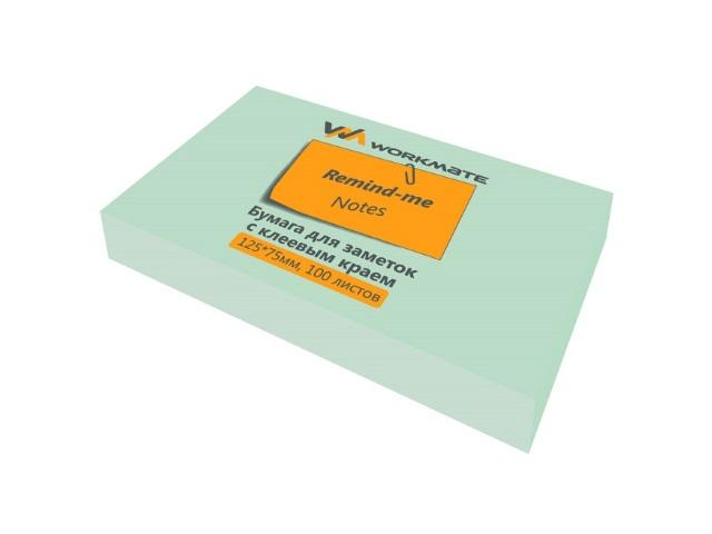 Стикер 75*125 мм 100 листов зеленый, Workmate 003000704