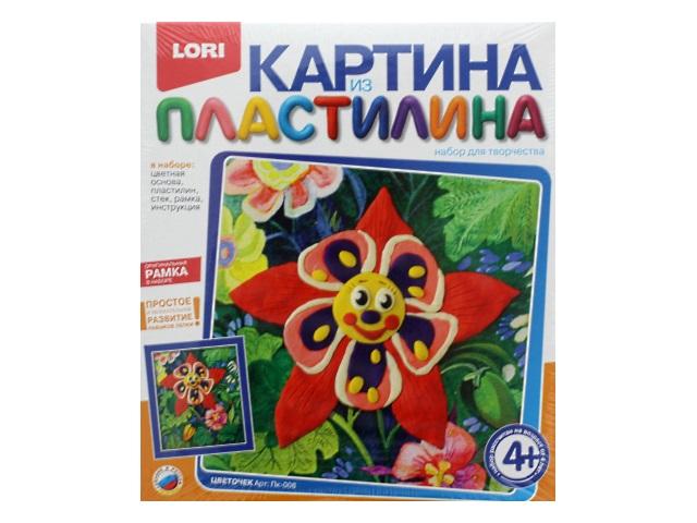 Набор для творчества, Картина из пластилина, Цветочек, в коробке, Lori