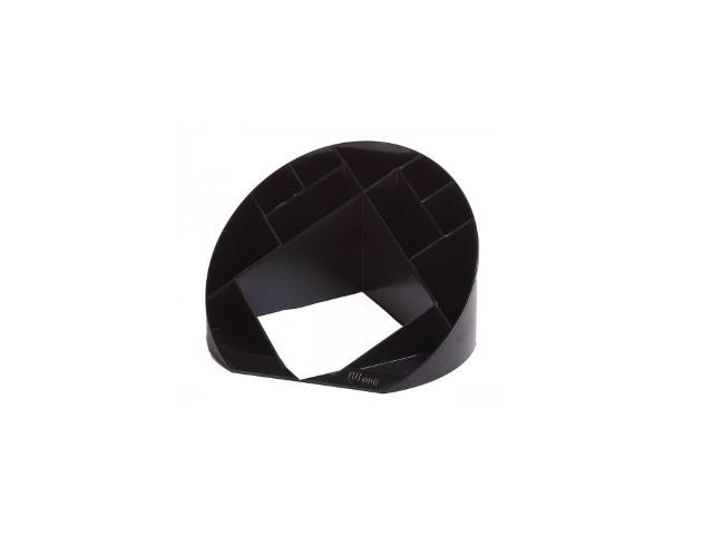 Подставка для ручек, 12 отделений, пластиковая, черная, круглая, Simple, DeVente