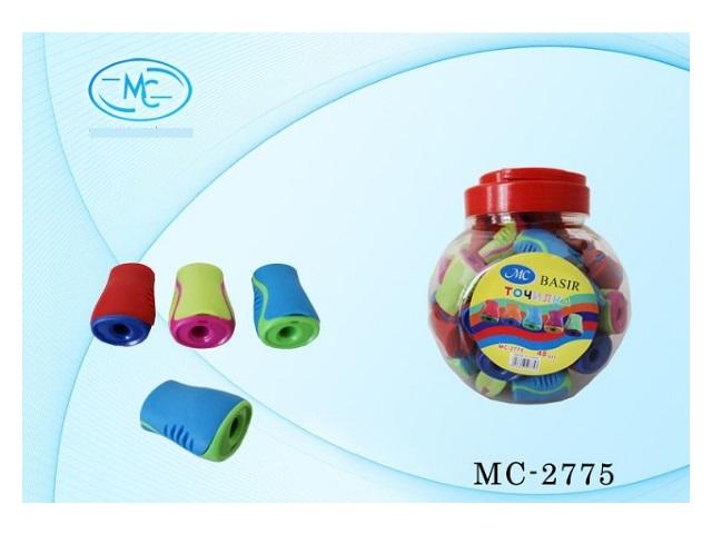 Точилка пластиковая с контейнером Бочонок, в банке, Basir МС-2775