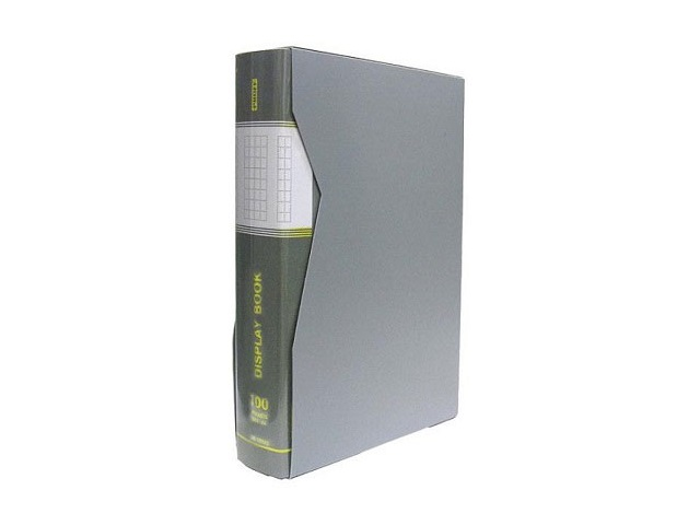 Папка с файлами 100ф А4 в коробе сер Proff Next DB100AB-05/4