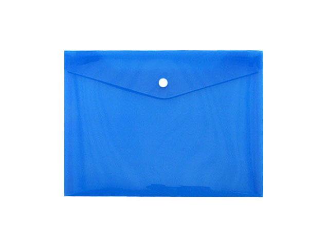 Папка конверт на кнопке, А4, синяя, Proff Next