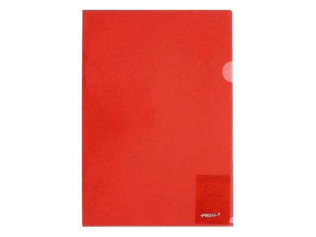 Уголок А4, 200 мкм, прозрачный, красный, Alpha Proff