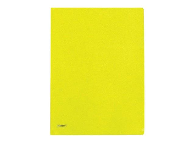 Уголок А4, 200 мкм, прозрачный, глянцевый, желтый, Alpha Proff