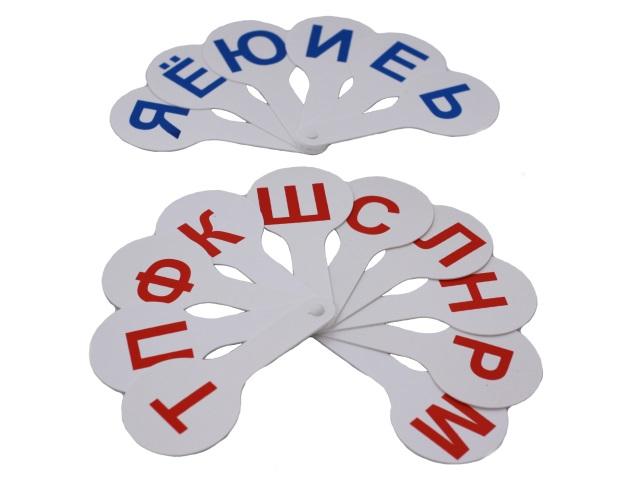 Веер букв, русский алфавит, Гласные и согласные, Пчелка