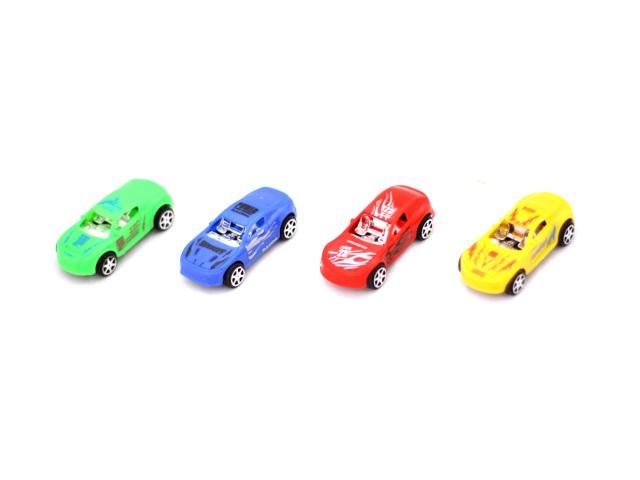 Машина набор 4шт., инерционная, пластиковая, в пакете
