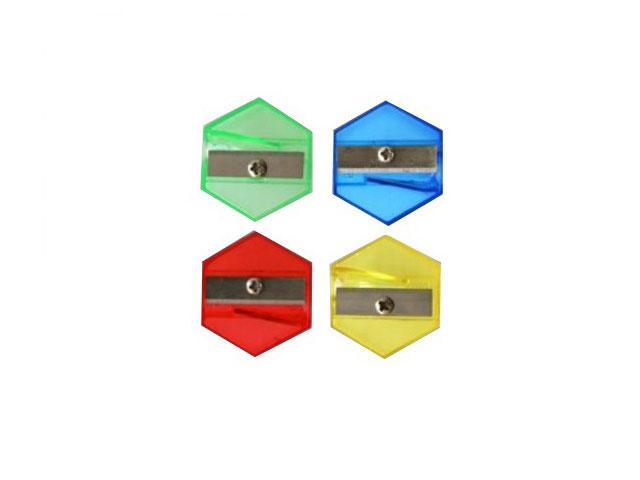 Точилка пластиковая, цвета ассорти, Шестигранник, Josef Otten