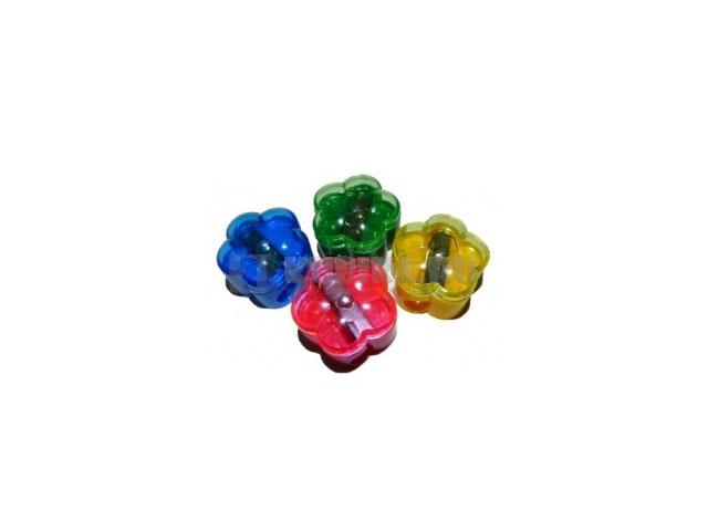 Точилка пластиковая с контейнером, цвета ассорти Цветок, Josef Otten 9906 169