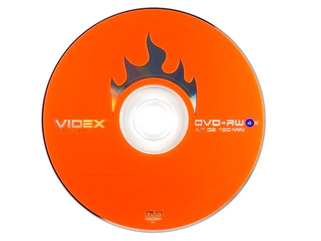 Диск, DVD-RW, 4.7Gb, 4x, Bulk, Videx