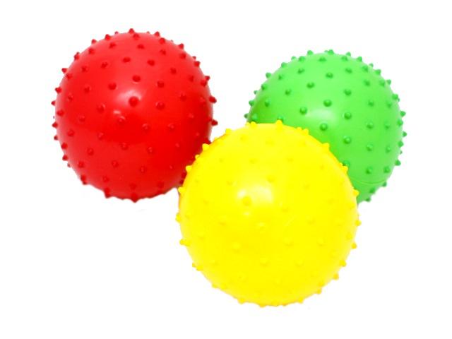 Мяч массажный, резиновый, средний, в ассортименте