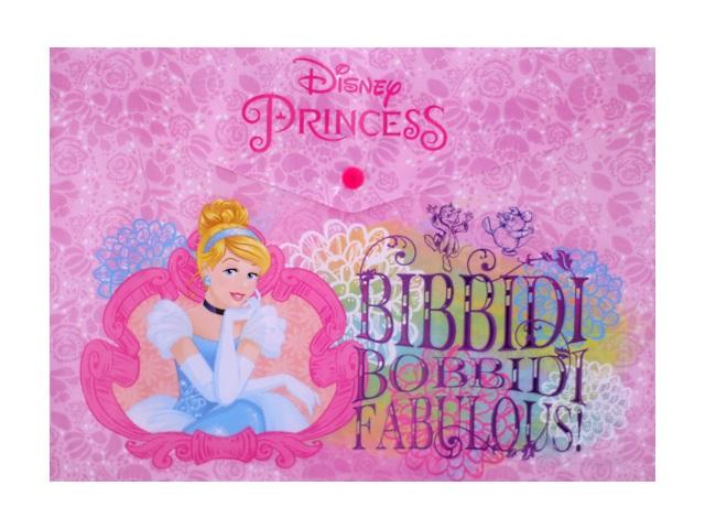 Папка-конверт на кнопке А4 детская Принцессы, Академия групп PRDB-US1-PLB-EN15