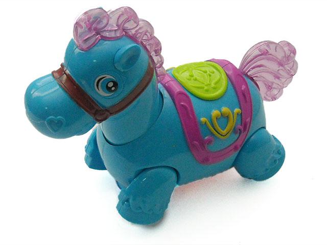 Музыкальная игрушка Лошадь, на батарейках, пластиковая, Fanny Horse, в коробке, Qinzhengyuan