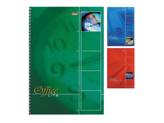 Книга канцелярская А4, 80 листов, спираль сбоку, мягкая обложка, Office Line, Hatber