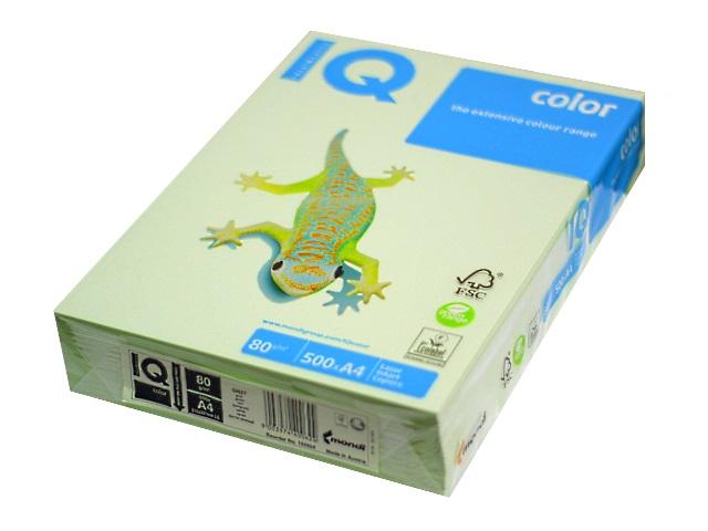 Бумага А4, 80 г/м, 500 листов, светло-зеленая, IQ