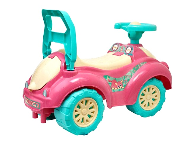 Машина пластиковая, розовая, в пакете, Технок