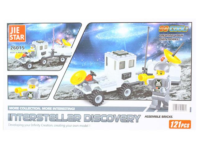 Конструктор 121 деталь, Interstellar discovery, в коробке, JieStar