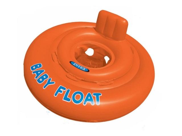 Круг, 76 см, оранжевый, с ножками, в коробке, Intex