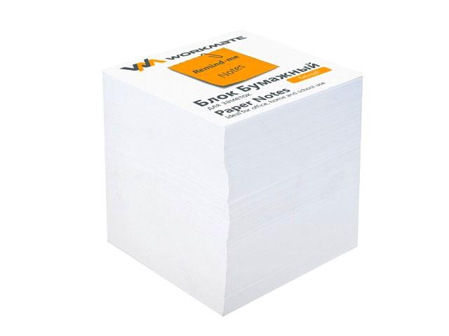 Бумага для заметок, белая, не склеенная, 90*90 мм, 900 листов, Workmate