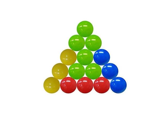Шарики, пластиковые, цветные, d=85мм., в сетке 80шт., Рыжий кот
