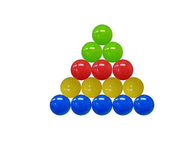 Шарики, пластиковые, цветные, d=85мм., в сетке 100шт., Рыжий кот