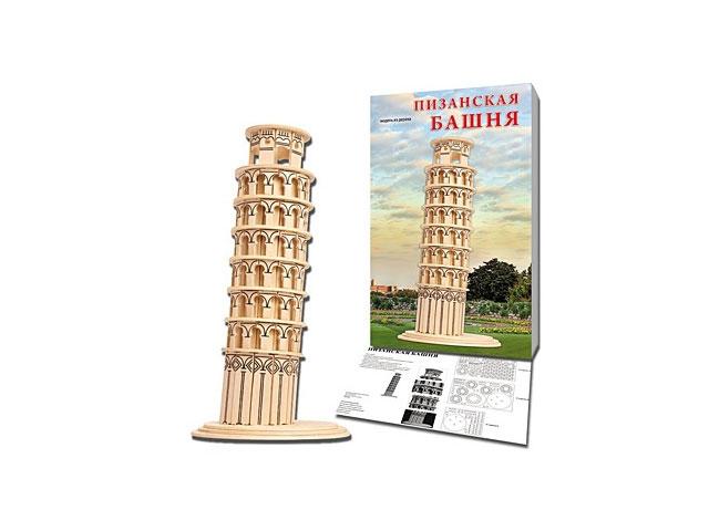 Деревянный конструктор (3D пазл), Пизанская башня, Рыжий кот