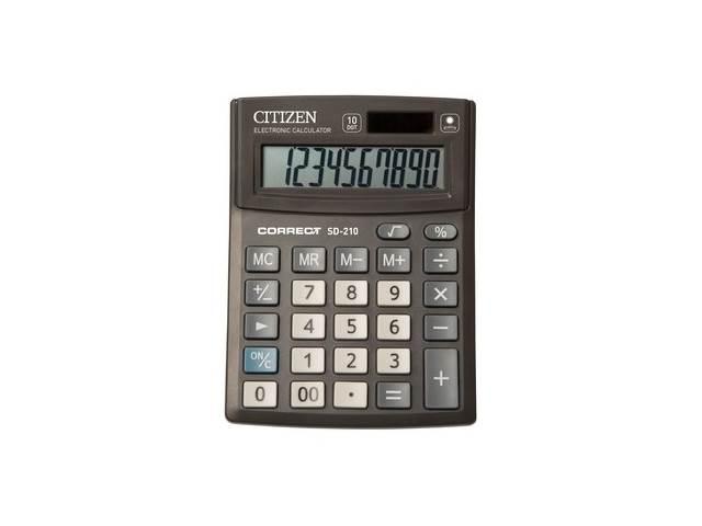 Калькулятор, 10-разрядный, черный, 13.5*10 см, Correct, СITIZEN