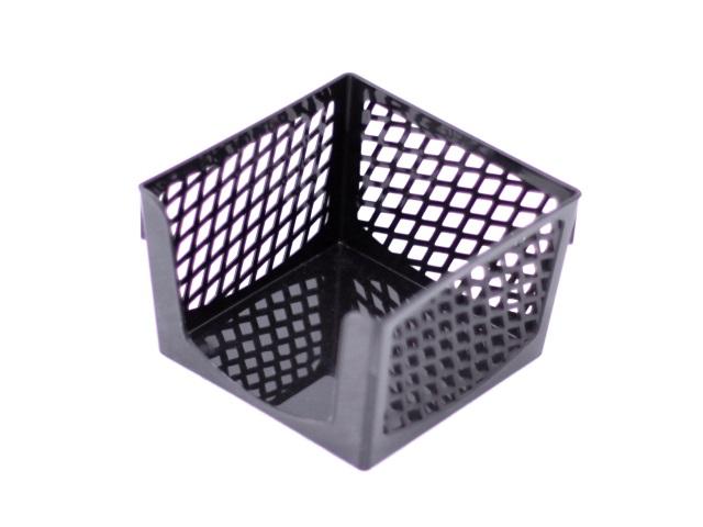 Бокс для бумаг, 9*9*7 см, пластиковый, черный, Simple, DeVente