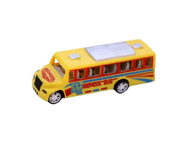 Автобус инерционный, пластиковый, School Bus, в пакете