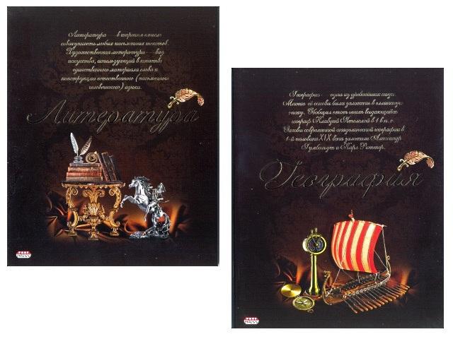 Тетрадь предметная, 10шт. в наборе, 48л., Винтажная, в ассортименте, Prof Press