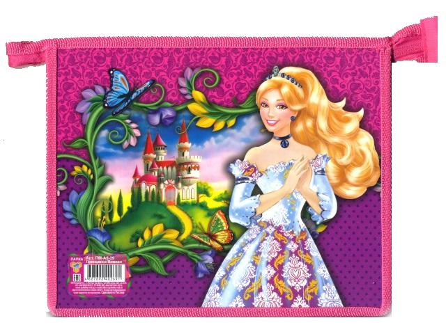 Папка для тетрадей на молнии, А5, пластиковая, Принцесса Вивиан, Пчелка