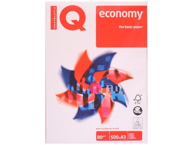 Бумага А3, 80 г/м, 500 листов, класс С, Economy, IQ